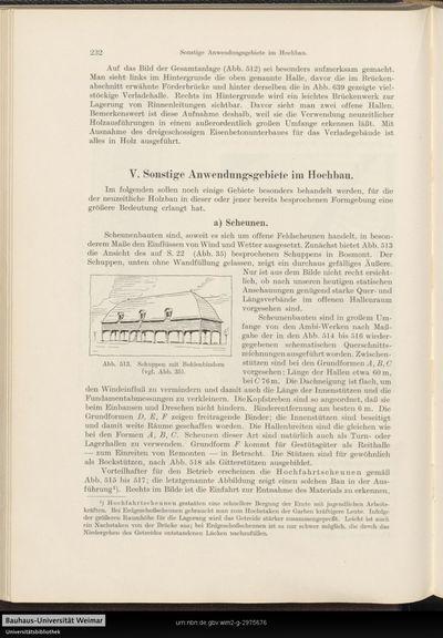 V. Sonstige Anwendungsgebiete im Hochbau.