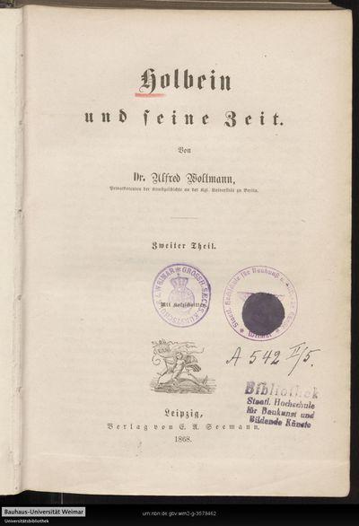 Holbein und seine Zeit; Th. 2