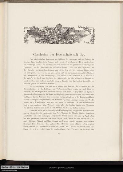 Geschichte der Hochschule seit 1875.
