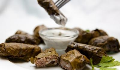 Лозови сарми с агнешко месо