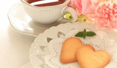 Чаени бисквитки - сърчица