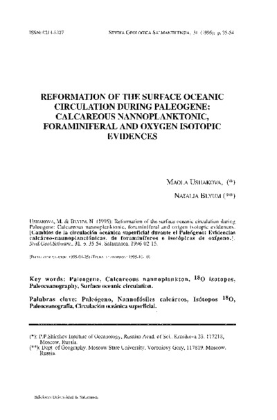 Reformation of the surface oceanic circulation during Paleogene: Calcareous nannoplanktonic, foraminiferal and oxygen isotopic evidences