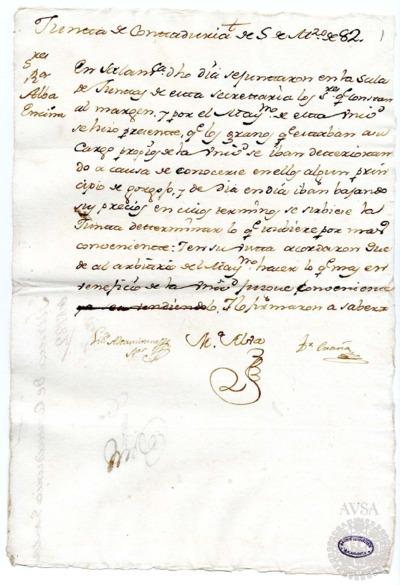 Borrador de la Junta de contaduría celebrada el 5 de marzo de 1782