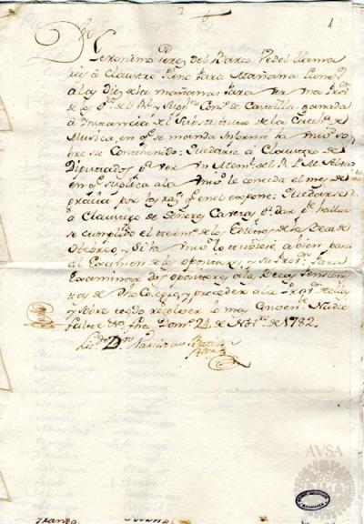 Borrador del Claustro pleno, Claustro de diputados y Claustro de cabezas y catedráticos de propiedad celebrados el 25 de noviembre de 1782