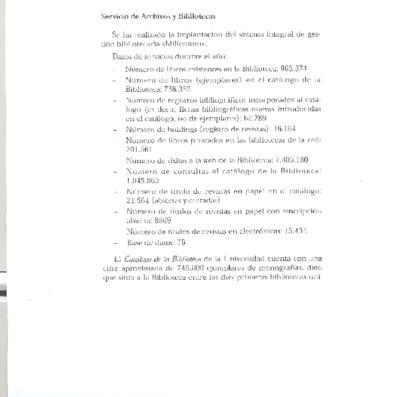 Memoria de las bibliotecas de la USAL, 2004-2005