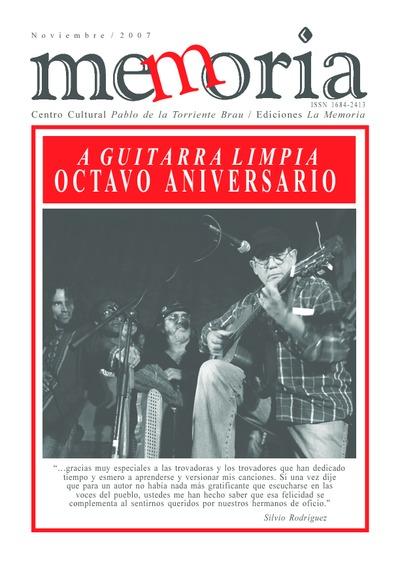 Cuaderno Memoria, nov. 2007. Octavo Aniversario A guitarra limpia