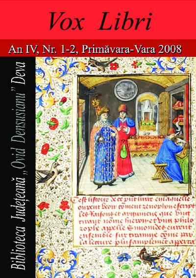 Vox libri An IV, Nr. 1-2, 2008