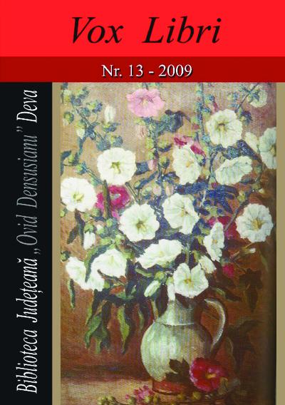 Vox libri, Nr. 13, 2009