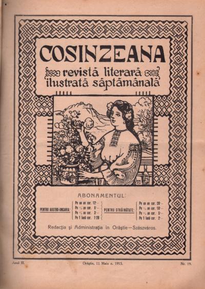 Cosînzeana : Revistă literară ilustrată săptămânală, Anul III, Nr. 19 (1913)