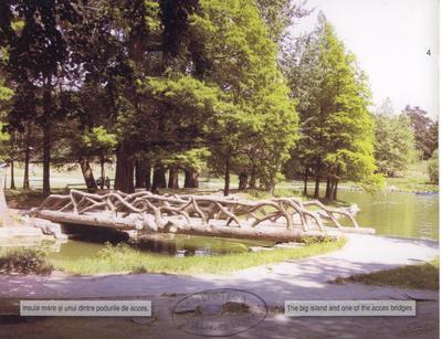 Insula mare şi unul din podurile de acces - la 100 de ani