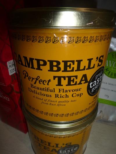 tin of tea close up