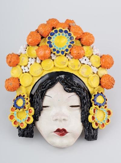 Falidísz - Japán nő fejdísszel