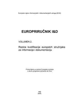 Razine kvalifikacije europskih stručnjaka za informacije i dokumentaciju