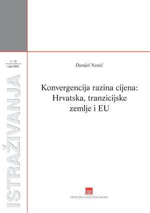 Konvergencija razina cijena : Hrvatska, tranzicijske zemlje i EU
