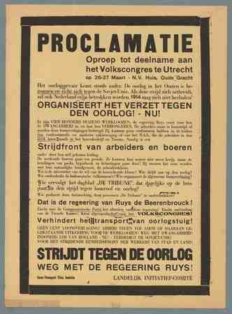 Proclamatie Strijdt tegen de oorlog