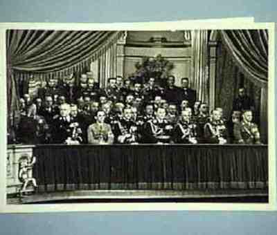 In der Staatsoper Personenanordnung auf der Rückseite Serie von 2 Fotos