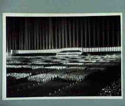 Der Appell der politischen Leiter auf der Zeppelinwiese
