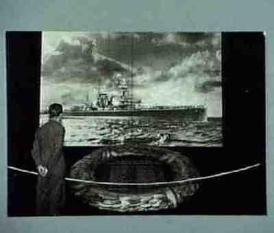 Anti-kommunistische Ausstellung im Reichstag. Auch die Kriegsopfer vom Schiff