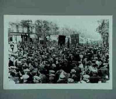 Manifestation au coin du Boulevard Philippe-Auguste et Boulevard de Charonne. Série de 2 photos