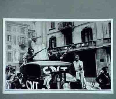Seized car with female symbol of the revolution. Copied from CNT collection