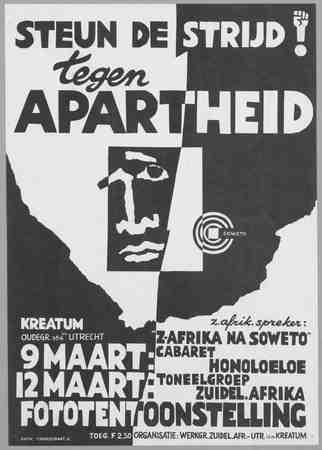 Steun de strijd! tegen apartheid