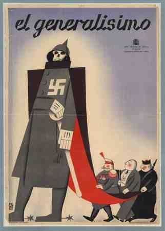Caricature poster Francisco Franco y Bahamonde
