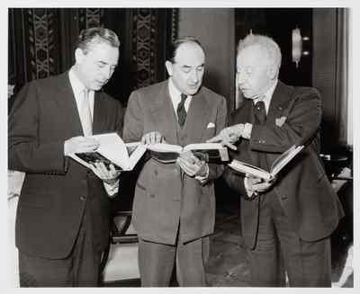 Pianist Arthur Rubinstein (rechts)