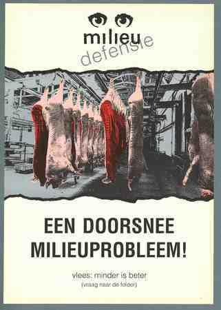 Een doorsnee milieuprobleem Vlees: minder is beter