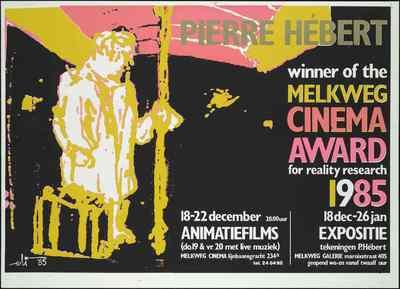 Pierre Hébert winner of the Melkweg Cinema Award for reality research 1985