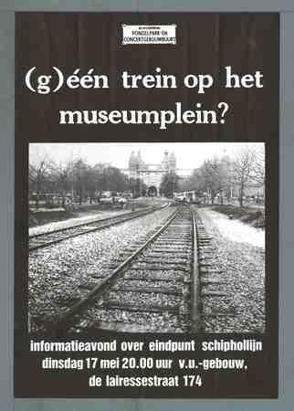 Afbeeldingsresultaat voor schiphollijn museumplein