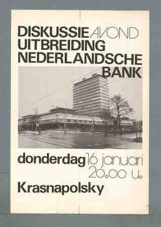 Diskussieavond uitbreiding Nederlandsche Bank