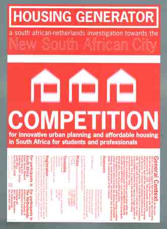 Housing generator - a South African-Netherlands investigation towards the new South African city