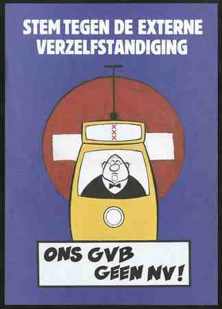 Stem tegen de externe verzelfstandiging Ons GVB geen NV