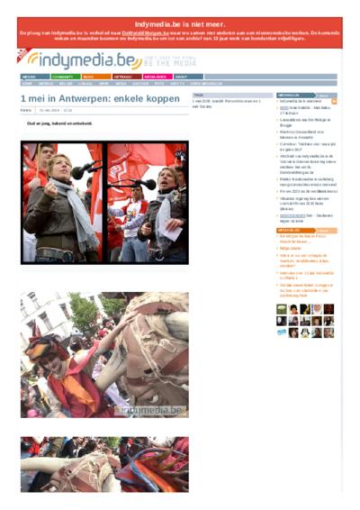 1 mei in Antwerpen: enkele koppen