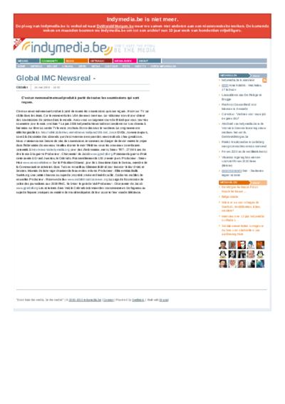 Global IMC Newsreal -