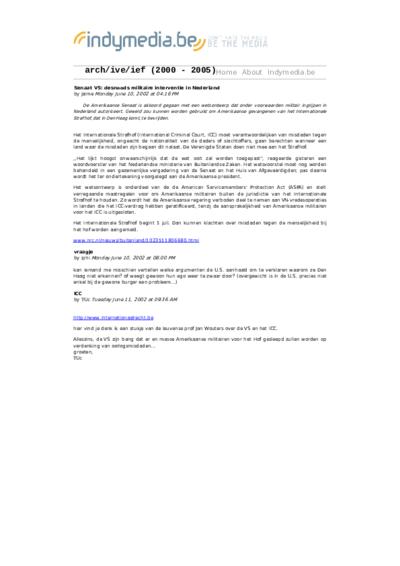 Senaat VS: desnoods militaire interventie in Nederland