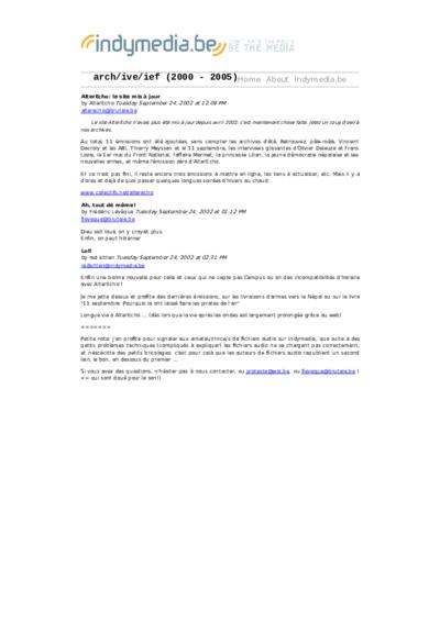 AlterEcho: le site mis à jour
