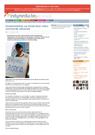 Guatemalteken op straat door video vermoorde advocaat