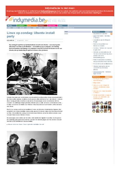 Linux op zondag: Ubuntu install party