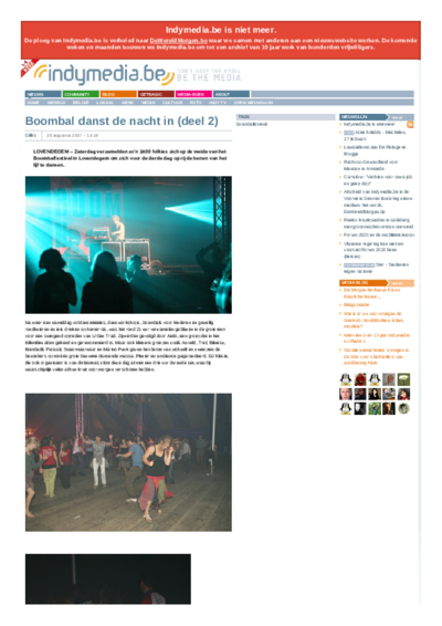 Boombal danst de nacht in (deel 2)