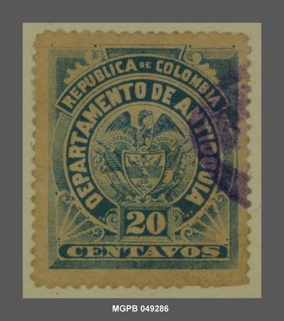 20 centaus Escut de la República de Colòmbia