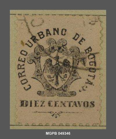10 centaus Escut de Bogotà