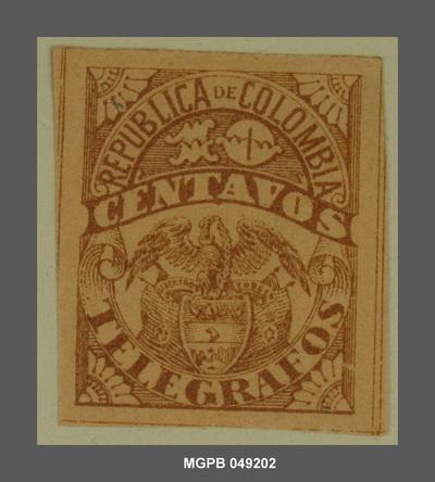 10 centaus Escut de la República Colòmbia