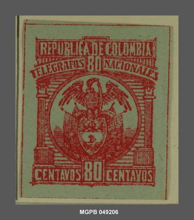 80 centaus Escut de la República Colòmbia