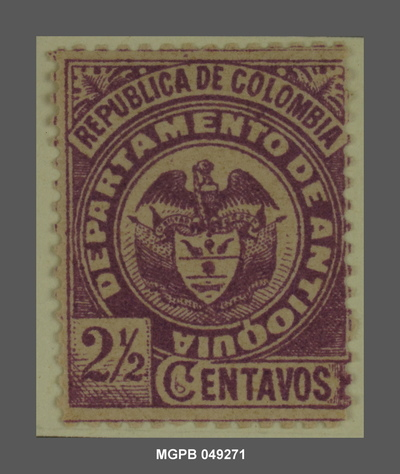 2 1/2 centaus Escut de la República de Colòmbia