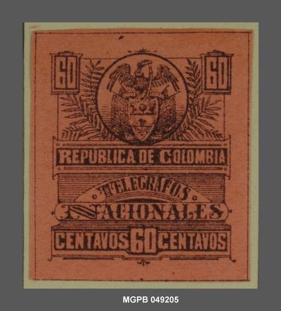 60 centaus Escut de la República Colòmbia