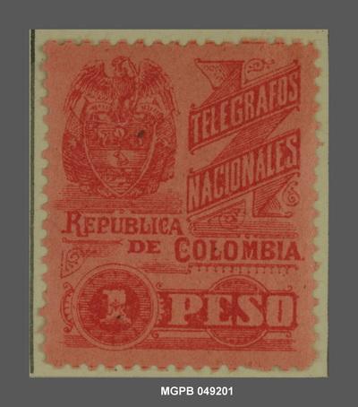 1 peso Escut de la República Colòmbia