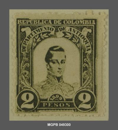 2 pesos José María Córdova