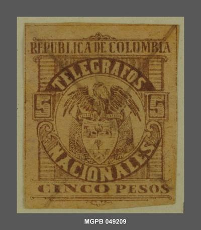 5 pesos Escut de la República Colòmbia