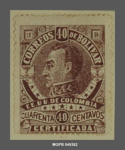 40 centaus Simón Bolívar
